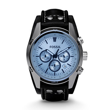 Fossil Blue Glass Chronograph
