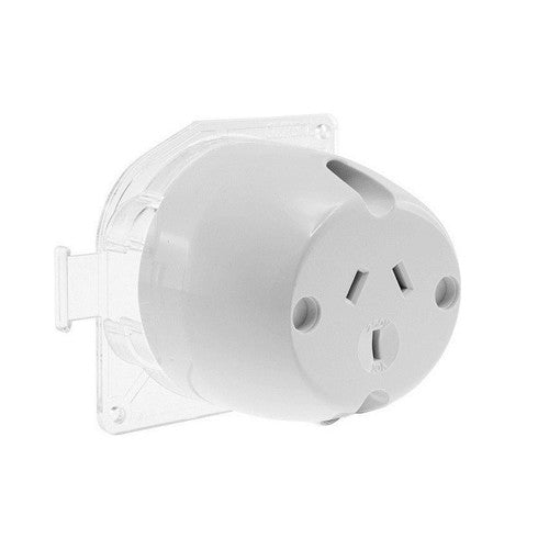 Single Plug Base Surface Socket Outlets 240V 10 Amp - Elegant Lighting