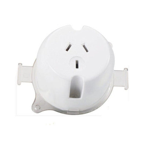 10 x Single Surface Socket Outlet 240V 10 Amp (Choose a Quantity Pack & SAVE!!) - Elegant Lighting