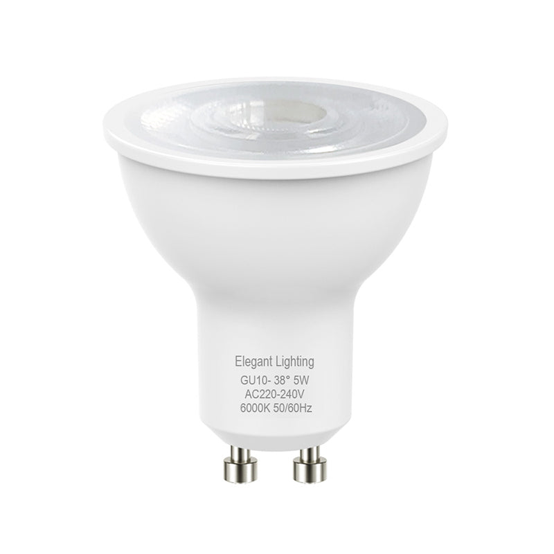 5W LED GU10 Globes Bulbs Lamps 240V Daylight White 6000K 400LM Wide Beam - Elegant Lighting