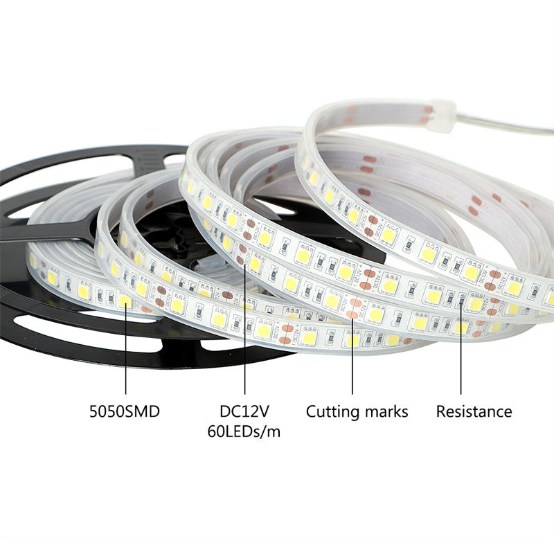 RGB LED Strip Lights IP65 Waterproof 5050 5M 300 LEDs 12V plus Bluetooth Controller - Control the lights from Mobile via app - elegant-lighting