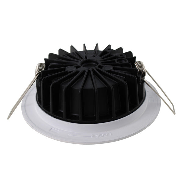 12W Warm White Cool White Dimmable LED Downlights SAA Approved 90mm cutout - elegant-lighting