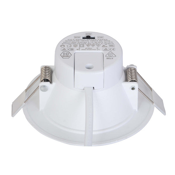 10W 12W Dimmable Integrated Driver LED Downlight CCT Changeable SAA 90mm cutout - Elegant Lighting
