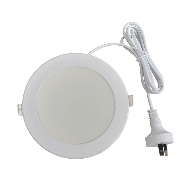 24 Watt Warm White Cool White Non-Dimmable Integrated Driver LED Downlight SAA Approved 155mm cutout - elegant-lighting