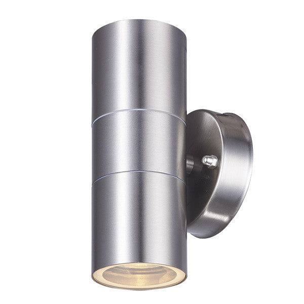 GU10 LED Stainless Steel Outdoor Up and Down Wall Light - Elegant Lighting