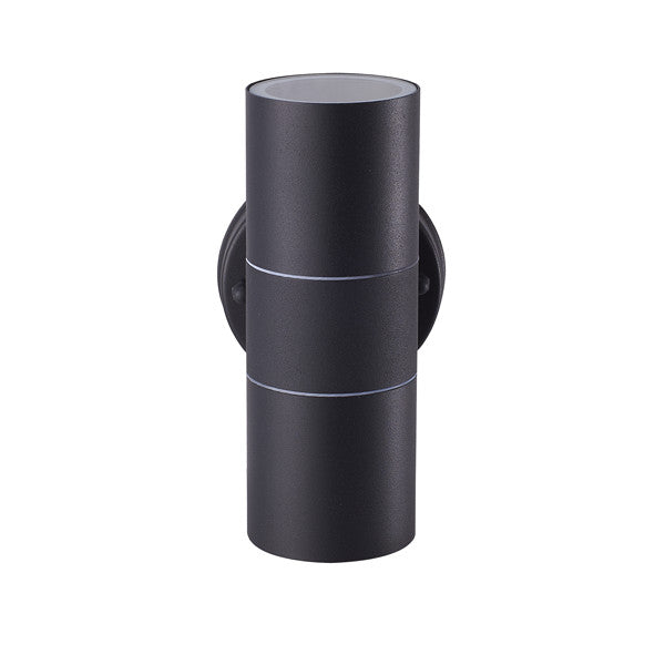 GU10 LED Matt Black/Grey Stainless Steel Outdoor Up and Down Wall Light - Elegant Lighting