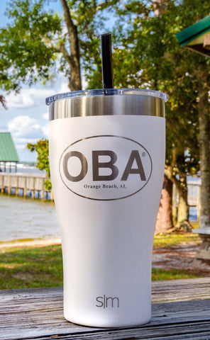 OBA Slim Cruiser Tumbler W/ Straw 22oz
