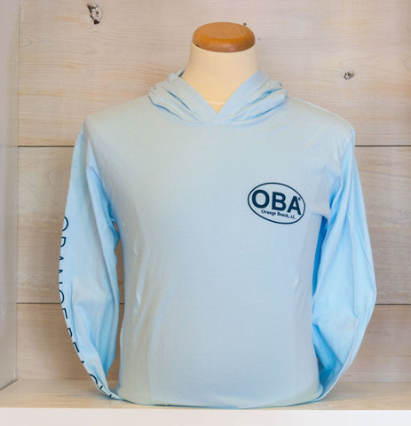 OBA Classic Logo Hooded Long Sleeve Tee - Shop Orange Beach Life