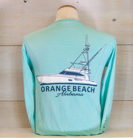 OBA 2 Tone Boat Long Sleeve - Shop Orange Beach Life