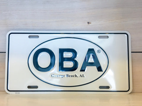 OBA Car License Plate - Shop Orange Beach Life