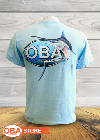 OBA Marlin Logo - Youth Short Sleeve Shirts