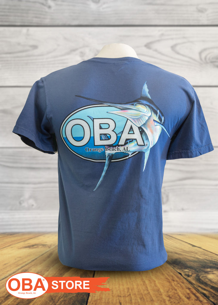 e5c6b6e0a7 OBA Marlin Logo - Youth Short Sleeve Shirts - Shop Orange Beach Life