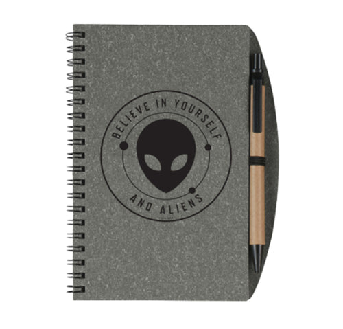 Believe In Yourself and Aliens Spiral Notebook