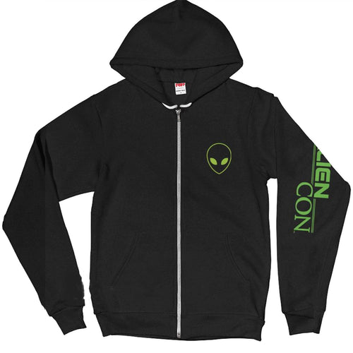 AlienCon Green Zip Hooded Sweatshirt