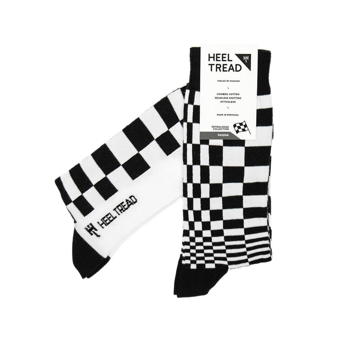 Porsche Pasha Black/White Socks