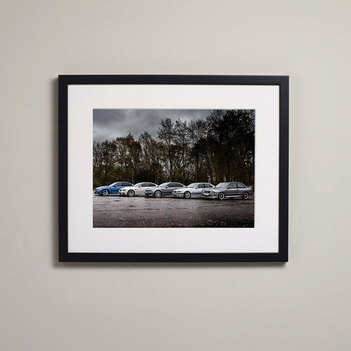 BMW M3 Generations Framed Print
