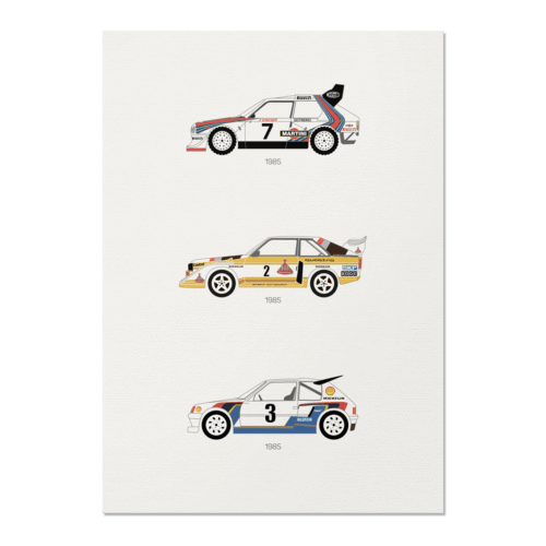 A Tribute to Rally B – Group B Unframed Poster