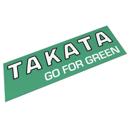 TAKATA 'Go For Green' Bumper Sticker