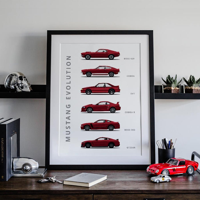 Ford Mustang Generations Poster