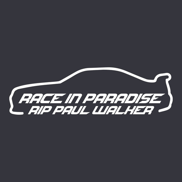 Race In Paradise Sticker