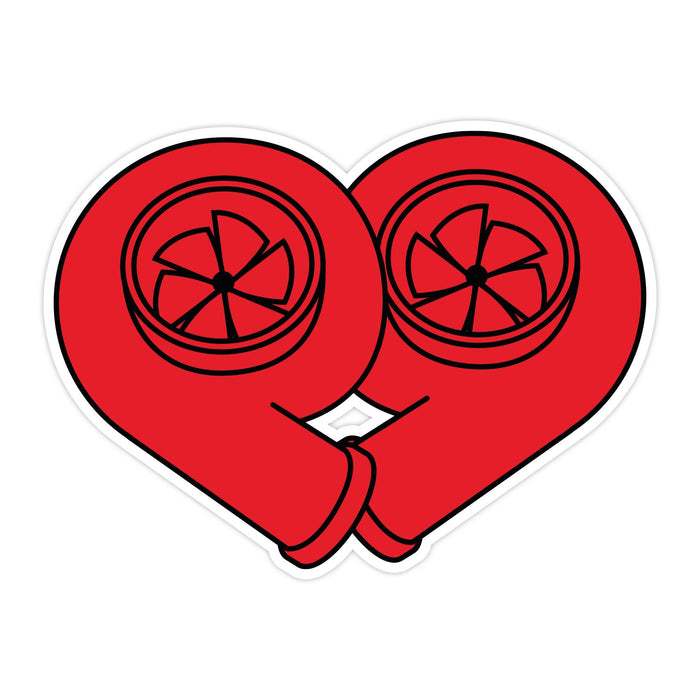 Turbo Heart Sticker