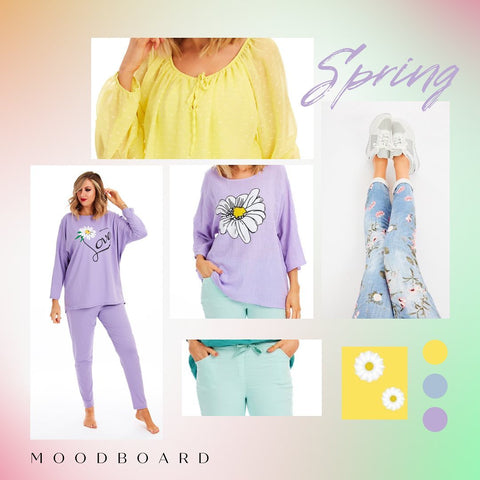 Spring Mood Board for Colourful Clothes at Euphoria Boutique