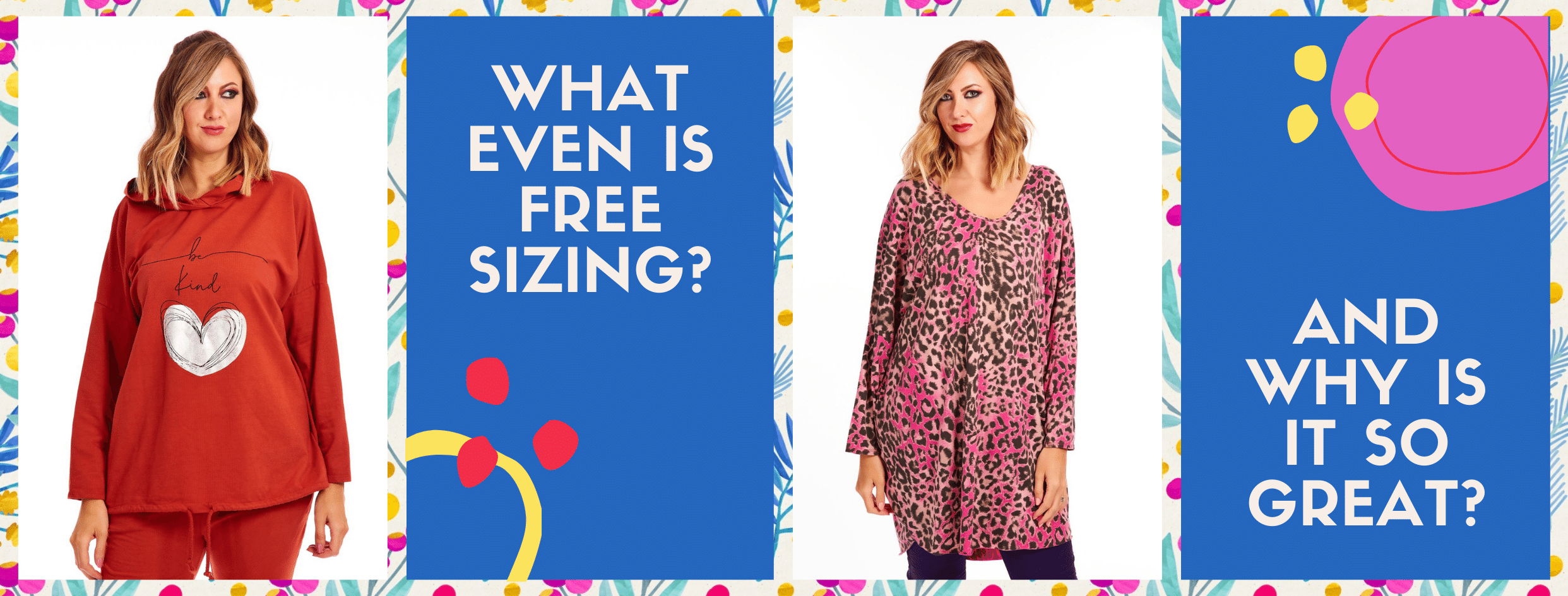 What is free size clothing banner at Euphoria Boutique - trendy plus size clothing