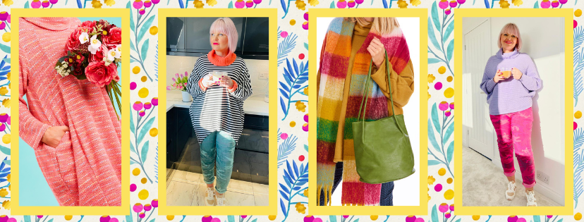 4 outfits of Colourful Clothing for Over 50s at Euphoria Boutique