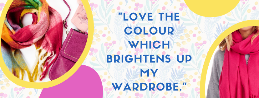"""""""Love the colour which brightens up my wardrobe."""" quote at Euphoria Boutique"""