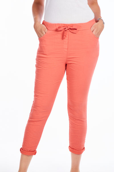 Magical crinkle joggers - Coral
