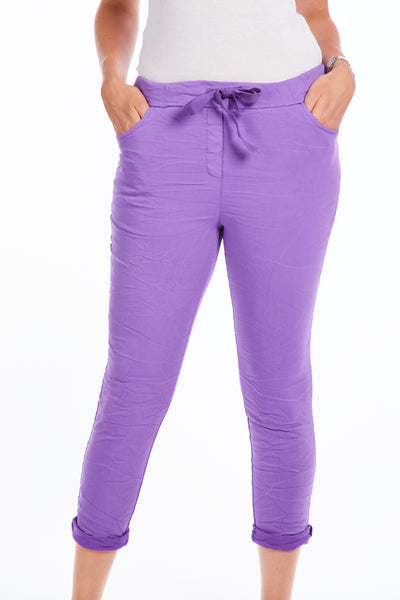 Magical crinkle joggers - Purple