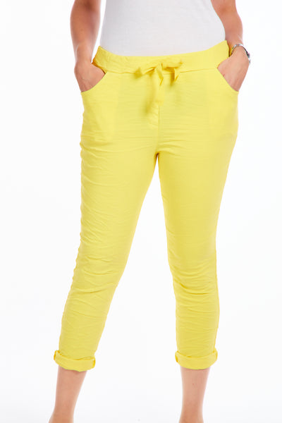 Magical crinkle joggers - Yellow