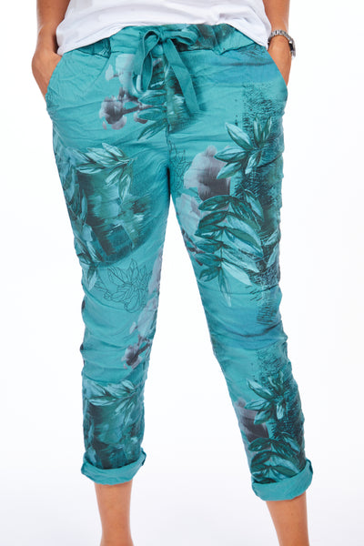 Magical stretch trousers - Tropical Teal