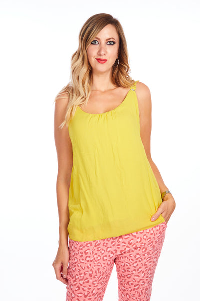 Tulip street summer top - Yellow