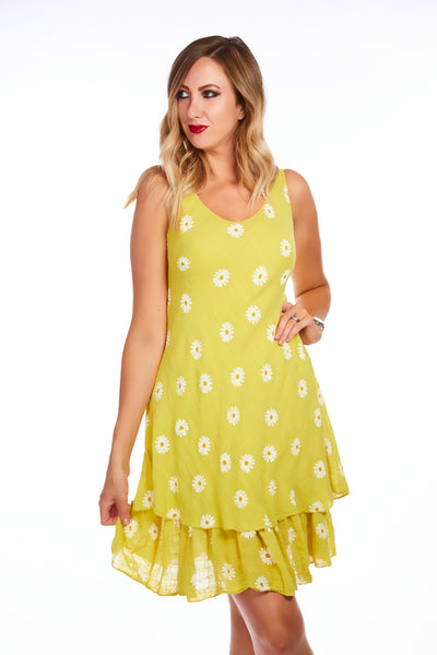 Daisy sunshine dress - Yellow