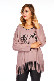 Frieda tassel sweater - Muted Mauve