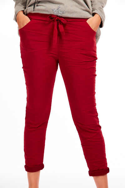 Magical stretch trousers - Winter Red