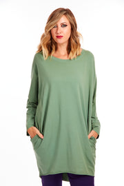 Comfy Catherine Tunic - Sage Green