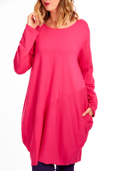 Midnight hour tunic dress - Hot Pink