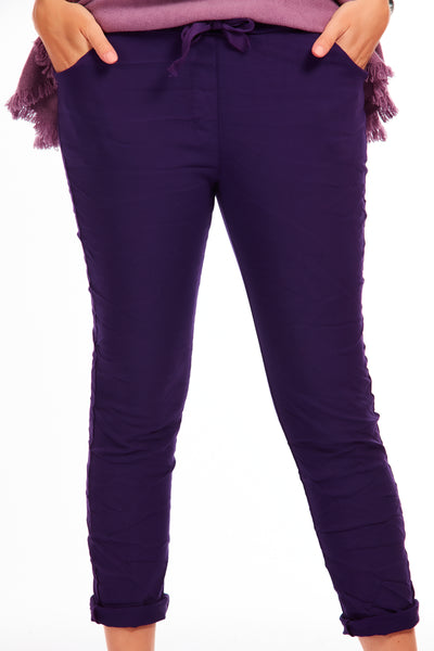 Magical stretch trousers - Winter Purple