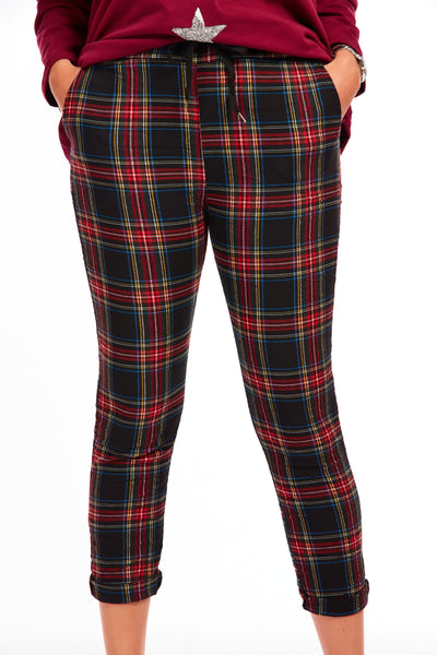 Highland stretchies - Tartan Red