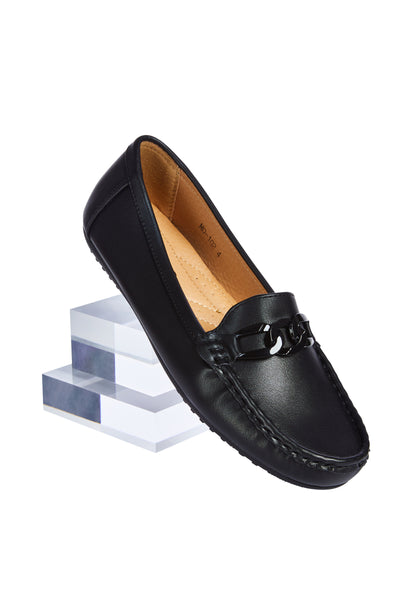 Comfort loafers - Black chain