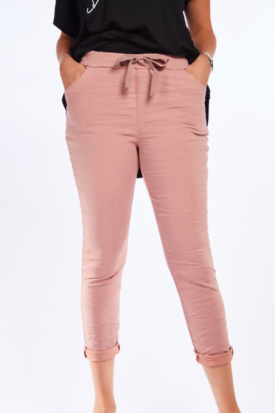 Magical crinkle joggers - ROSE PINK