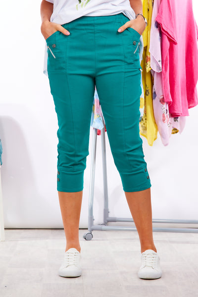 Deck cropped trousers - Teal