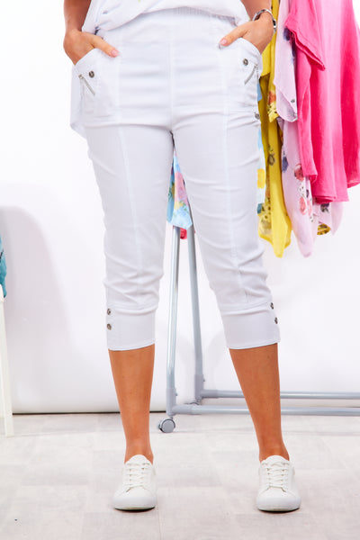 Deck cropped trousers - White