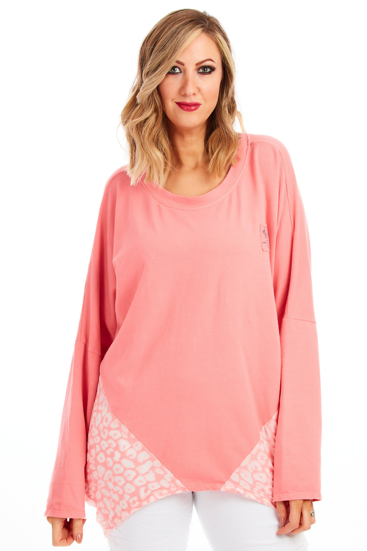 Charlie premium washed sweater - Coral