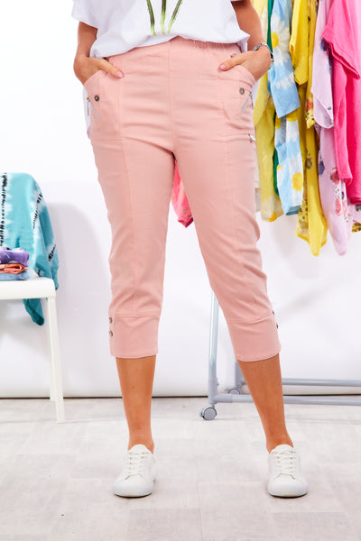 Deck cropped trousers - Baby Pink