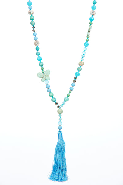 Butterfly tassel chain - Blue