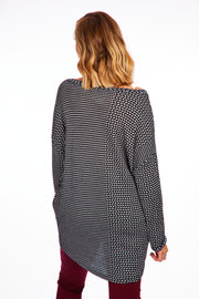 Joyous tweed look jumper - Monochrome