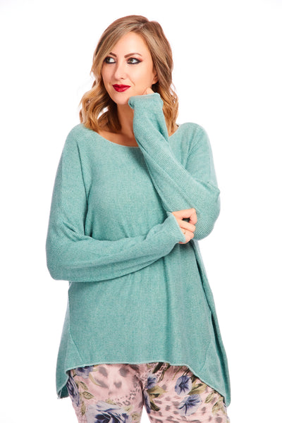 Ruby ribbed knit - Teal